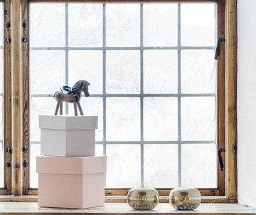 Joulu Sisustusyksityiskohta Kynttilät Hay Louise Roe Copenhagen Kay Bojesen Punainen Musta Luonnonväri Metalli Pähkinäpuu Box Box Puuesineet