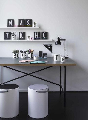 Työpisteet Design Letters Valkoinen Musta Keramiikka Puu Paperi AJ keittiö