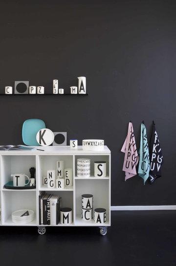Säilytys Design Letters Musta Valkoinen Turkoosi Keramiikka Puuvilla Puu AJ keittiö
