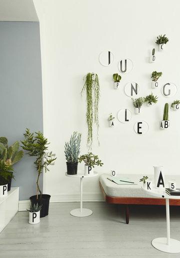 Viherkasvit Sisustusideat Design Letters Valkoinen Musta Keramiikka AJ keittiö