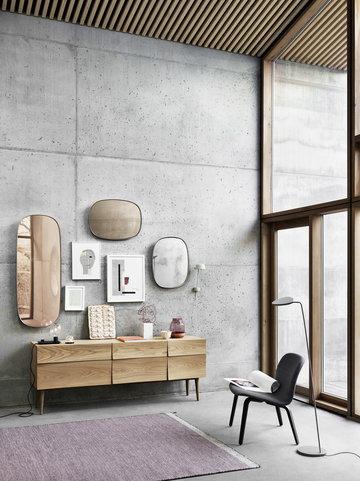 Salotti Angololettura Casa estiva Muuto Naturale Grigio Rosa Marrone Nero Bianco Rovete Alluminio Vetro Reflect Leaf Elevated