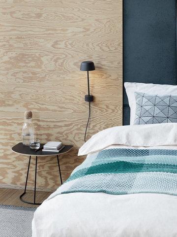 Makuuhuone Kesäkoti Muuto Musta Vihreä Metalli Puuvilla Alumiini Airy Loom