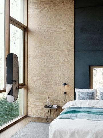 Cameradaletto Casa estiva Muuto Nero Verde Marrone Metallo Cotone Vetro Alluminio Airy Loom