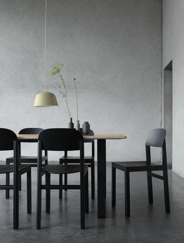 Ruokailutilat Muuto Musta Vihreä Luonnonväri Tammi Alumiini Keramiikka 70/70 Ambit Balance