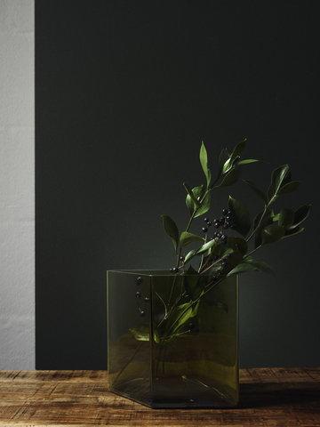 Viherkasvit Joulu Sisustusyksityiskohta Iittala Vihreä Lasi Ruutu