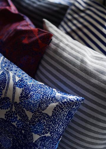 Marimekko Blu Rosso Grigio Nero Cotone Tasaraita