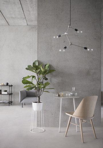 Olohuoneet Viherkasvit Menu Metalli Valkoinen Musta Teräs Saarni Wire Stick System Yeh Wall