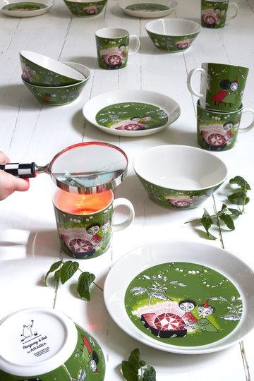 Tavola Arabia Verde Ceramica Mumin Tsaikka