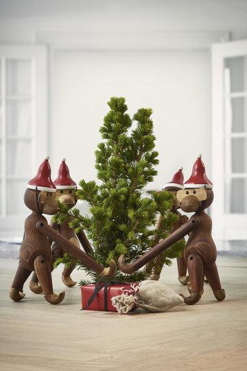 Natale Kay Bojesen Rosso Naturale Legno Tek Oggetti in legno