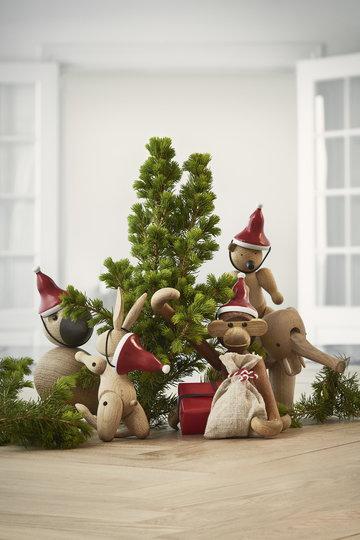 Natale Dettaglioarredamento Kay Bojesen Naturale Rosso Rovete Legno Tek Oggetti in legno