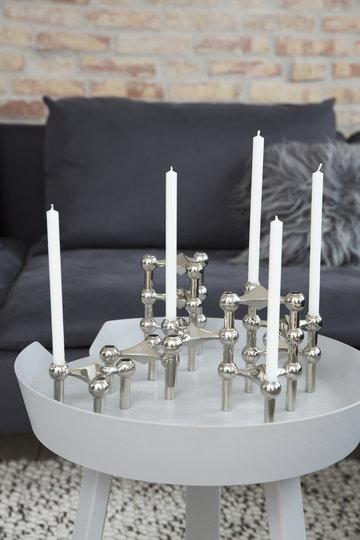 Olohuoneet Kynttilät Talvi Muuto STOFF Copenhagen Harmaa Valkoinen Kromi Saarni Metalli Around