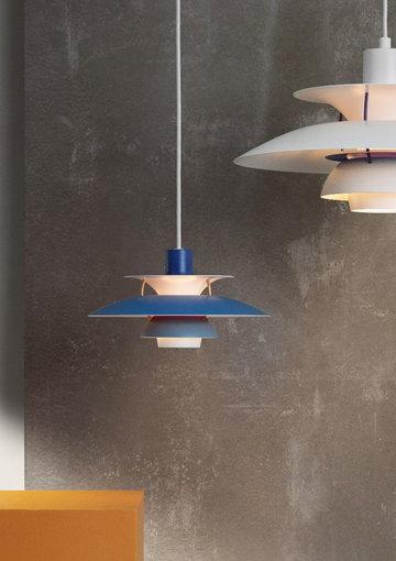 Louis Poulsen Bianco Blu Alluminio Metallo PH