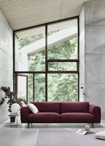 Olohuoneet Muuto Vaaleanpunainen Musta Harmaa Metalli Villa Alumiini Mingle Airy Rest