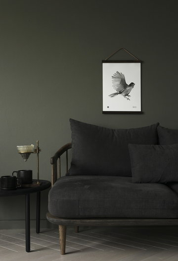 Salotti Poster Teemu Järvi Illustrations &Tradition Bianco Grigio Carta Rovete Poster Fly