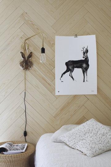 Makuuhuone Julisteet Menu Teemu Järvi Illustrations Messinki Musta Paperi