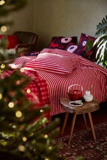 Natale Cameradaletto Marimekko Rosso Bianco Ceramica Vetro Cotone Lana Oiva Tasaraita Unikko R�symatto
