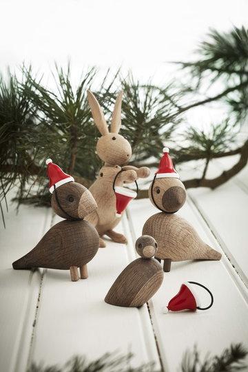 Natale Kay Bojesen Naturale Rosso Rovete Legno Oggetti in legno