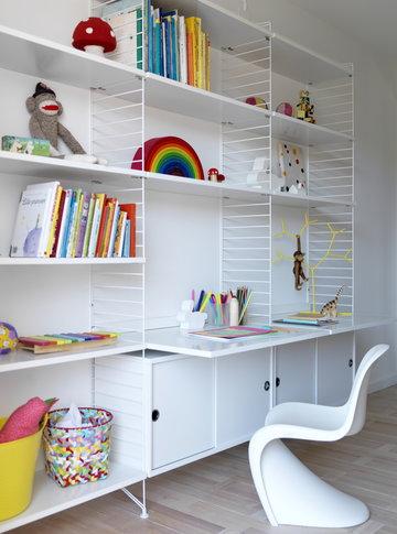 Lastenhuoneet String Furniture Vitra Valkoinen Teräs Muovi String System Panton