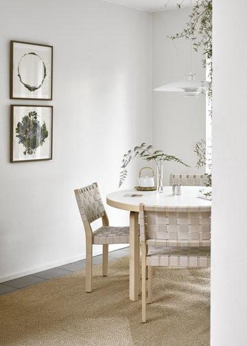 Viherkasvit Ruokailutilat Artek Beige Valkoinen Koivu Aalto pöydät