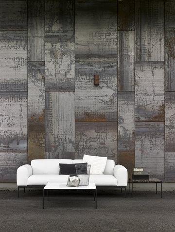 Livingroom Adea Grey White Wood
