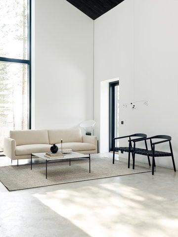 Livingroom Adea Flos Black Grey Oak Glass