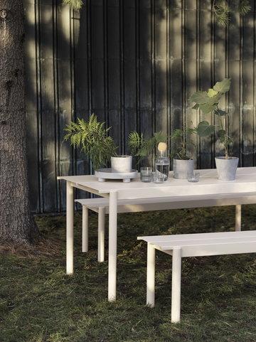 Viherkasvit Ulkokalusteet Terassi Muuto Harmaa Valkoinen Teräs