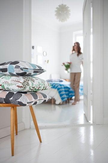 Makuuhuone Kauniste Normann Copenhagen Sininen Vaaleanpunainen Valkoinen Pellava Muovi Norm