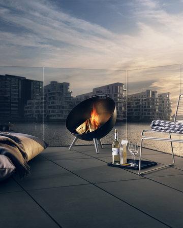 Mobiliperesterno Terrazzo Barbecue Casa estiva Eva Solo Hay Nero Bianco Acciaio Hee