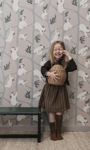 Lastenhuoneet Ferm Living Luonnonväri Harmaa Vihreä Puu Paperi Saarni