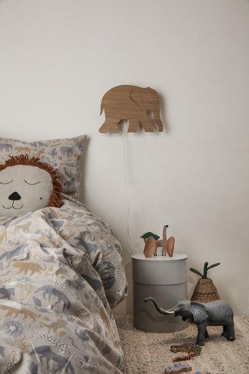Lastenhuoneet Ferm Living Luonnonväri Harmaa Beige Puu Paperi Pellava