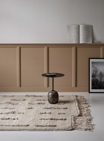 Livingroom Sera Helsinki &Tradition White Black Wool Marble