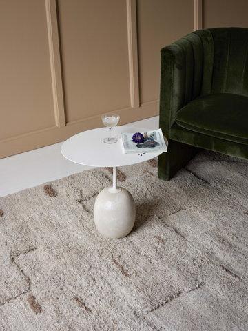 Livingroom Sera Helsinki &Tradition Brown White Wool Marble