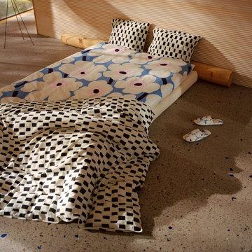 Makuuhuone Marimekko Sininen Monivärinen Puuvilla Pellava