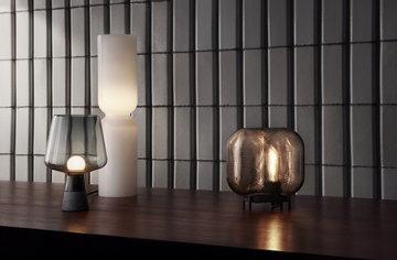 Sisustusideat Iittala Harmaa Beige Valkoinen Lasi Leimu Lantern