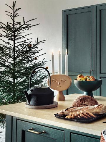 Tavola Cucina Natale Candele Artek Iwatemo Muuto Raawii Beige Nero Grigio Verde Ceramica Ghisa Marmo Groove