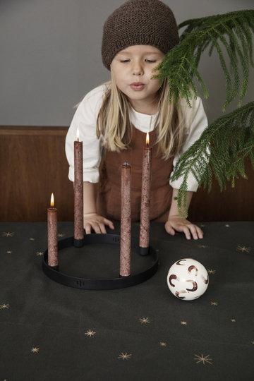 Joulu Kynttilät Ferm Living Ruskea Musta Lasi
