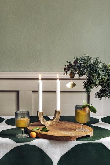 Joulu Kynttilät Ferm Living Iittala Harmaa Messinki Luonnonväri Lasi Tammi