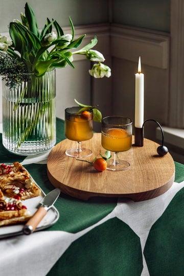 Tavola Natale Candele Ferm Living Iittala Lyngby Porcelain Grigio Nero Naturale Trasparente Vetro Ottone Rovete