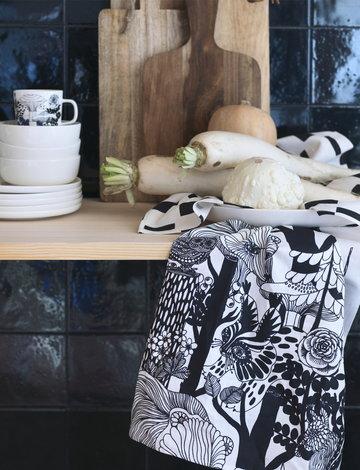 Tavola Cucina Marimekko Bianco Multicolore Nero Ceramica Cotone Oiva