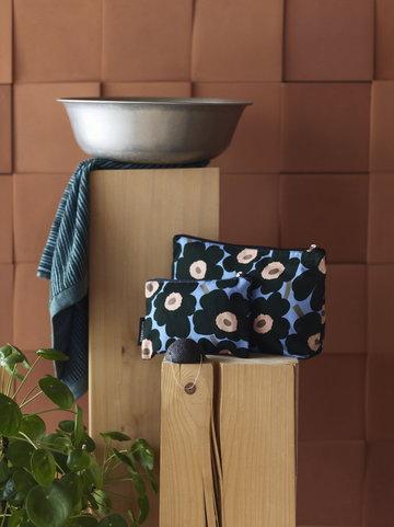 Viherkasvit Kylpyhuone Marimekko Sininen Puuvilla
