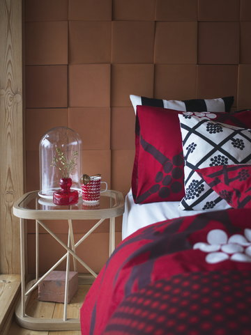 Natale Cameradaletto Marimekko Woodnotes Rosso Grigio Multicolore Naturale Ceramica Vetro Cotone Rovete Oiva