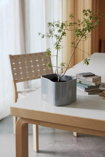Viherkasvit Ruokailutilat Artek Luonnonväri Harmaa Koivu Keramiikka Aalto pöydät