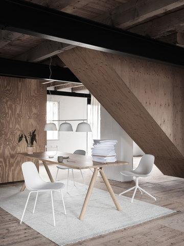 Työpisteet Olohuoneet Muuto Valkoinen Harmaa Alumiini Villa Metalli Fiber Chair