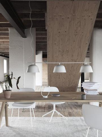 Työpisteet Olohuoneet Muuto Valkoinen Harmaa Alumiini Marmori Villa Metalli Groove Fiber Chair