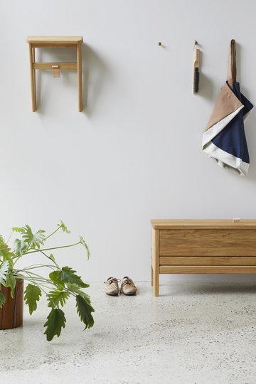 室内植物入口细节细化自然黄铜橡木