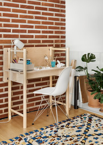 Työpisteet Vitra Made by Choice Hay Valkoinen Luonnonväri Teräs Koivu Alumiini Eames DSR Noc