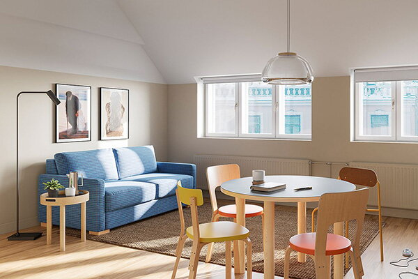 Bob W decorates with classic chairs by Alvar Aalto
