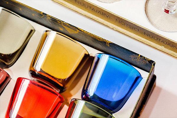 Coloured glassware by Nuutajärvi