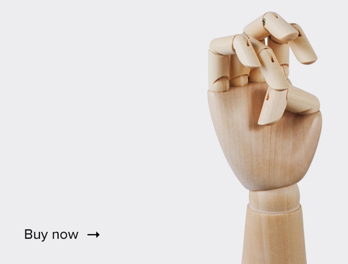 Wooden hand<br />–20%