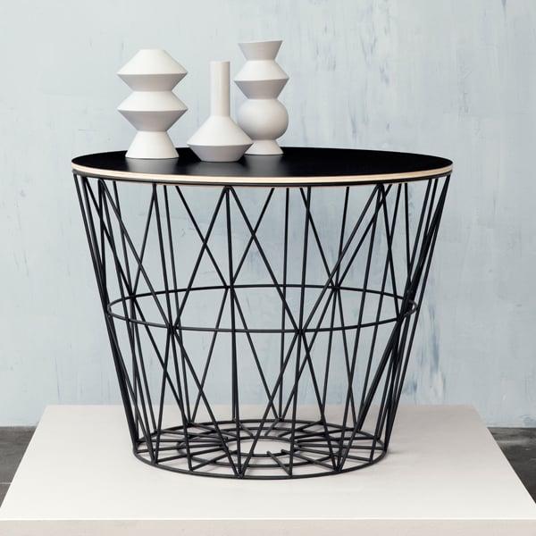 Ferm Living Wire Basket Black Finnish Design Shop